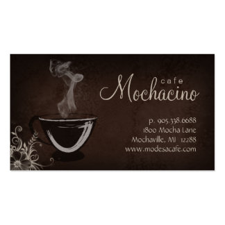 Coffee Club Business Card Brown with Flower