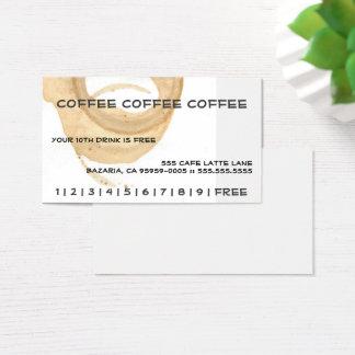 Coffee Coffee Coffee Punch Card