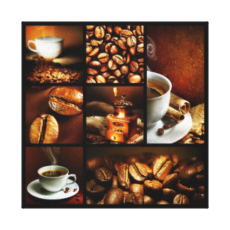 Coffee Collage 2 Stretched Canvas Print