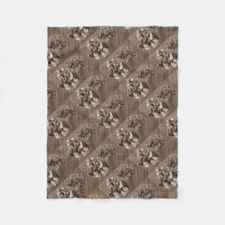 Coffee Colored Rose Flower Bouquets Fleece Blanket