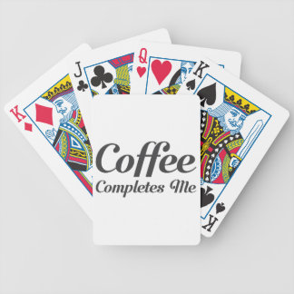 Coffee Completes Me Bicycle Playing Cards
