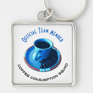 Coffee Consumption Squad | Team Member Key Ring