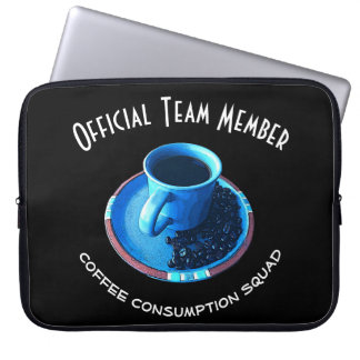 Coffee Consumption Squad | Team Member Laptop Sleeve