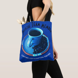 Coffee Consumption Squad Typography Tote Bag