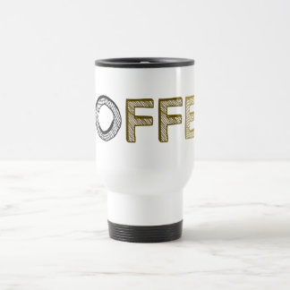 Coffee Cool Simple Modern Minimalist Pure White Travel Mug