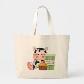 Coffee Cow Cartoon Tote Bag