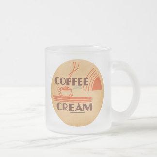 Coffee Cream :: Retro Dairy Milk Bottle Cap Frosted Glass Coffee Mug
