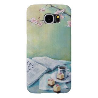 Coffee, Crossword, Cherry Blossom Phone Case