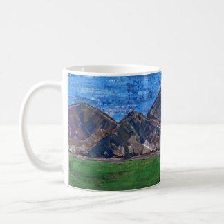 Coffee Cup, Acrylic Mountain Landscape Coffee Mug