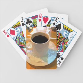 Coffee Cup Bicycle Playing Cards
