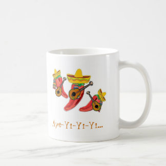 Coffee Cup, Chilli Peppers , Mariachi Band Coffee Mug