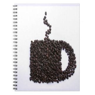 Coffee Cup, Coffee Beans Spiral Notebook