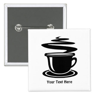 Coffee Cup (customizable) 15 Cm Square Badge
