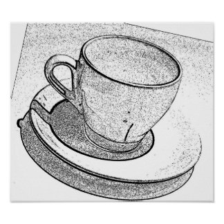 Coffee Cup (high res.) Poster