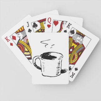 Coffee Cup Illustration Playing Cards