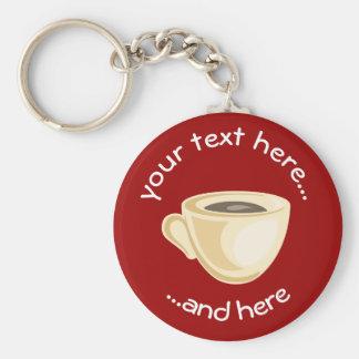 Coffee cup keychain
