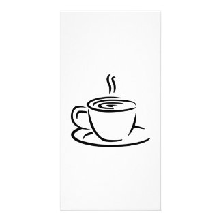 Coffee cup personalised photo card