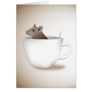 Coffee Cup Rat Card