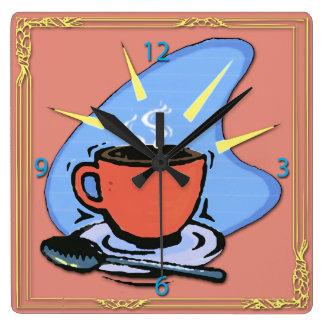 Coffee - Cup, Saucer, Spoon Design Wall Clocks