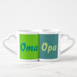 Coffee cup set granny & Grandpa