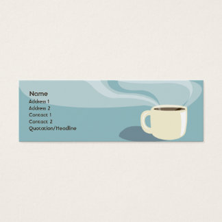 Coffee Cup - Skinny Mini Business Card