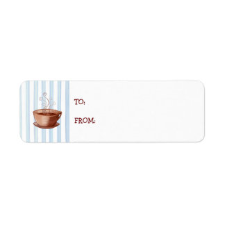 Coffee Cup small Gift Tag Return Address Label