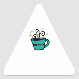 Coffee Cup Triangle Stickers