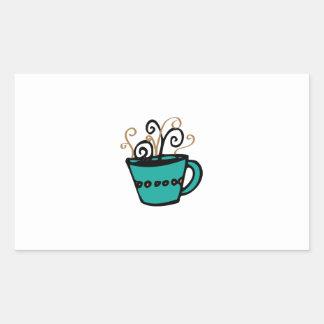 Coffee Cup Rectangular Sticker