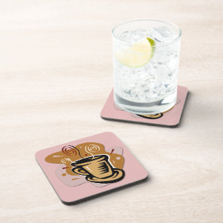 Coffee Cup - Swirl Design Drink Coaster Set 6