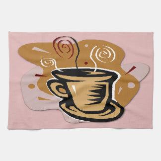 Coffee Cup - Swirl Design Kitchen Towel