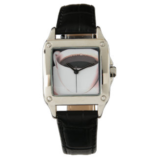 COFFEE CUP watch black leather HIS HERS