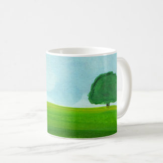 Coffee Cup, Watercolor Landscape Coffee Mug