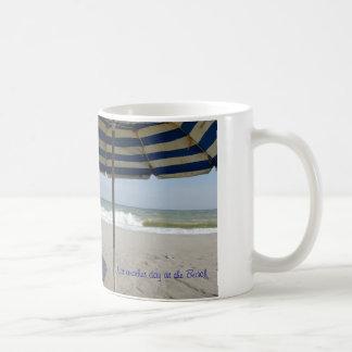 Coffee cup with beach scene classic white coffee mug