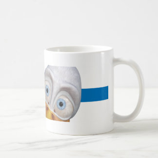 coffee cup with dexter the duck graphic