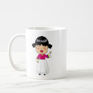 Coffee Cup with Korean Chibi by Mahieu