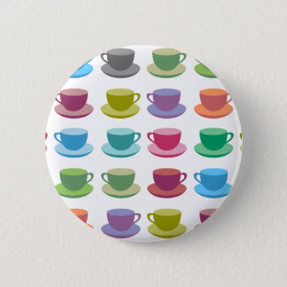Coffee Cups 6 Cm Round Badge
