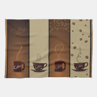 Coffee Cups & Beans Tea Towel