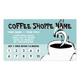 coffee curls loyalty pack of standard business cards