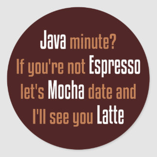 Coffee Date Round Sticker