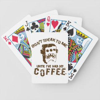 coffee design bicycle playing cards