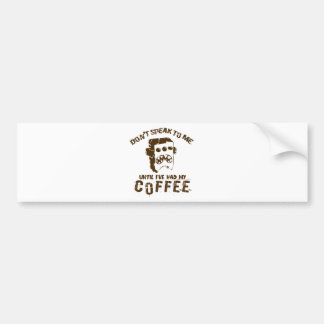 coffee design bumper sticker