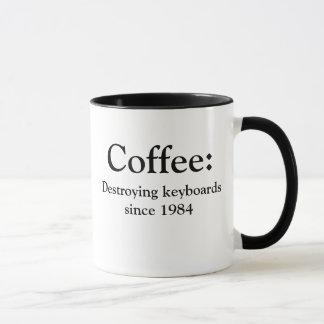 Coffee: Destroying keyboards since 1984 Mug