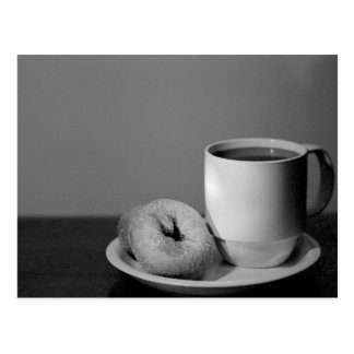 Coffee donuts post cards