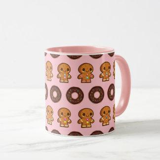 Coffee & Doughnuts Pink Mug