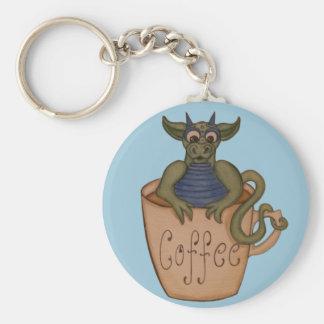 Coffee dragon keychain