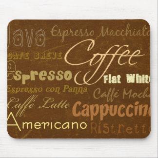 Coffee Drinks Mousepad