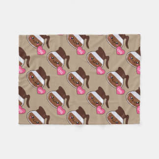 Coffee Emoji Lover (brown) Fleece Blanket