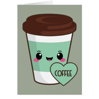 Coffee Emoji Lover Card