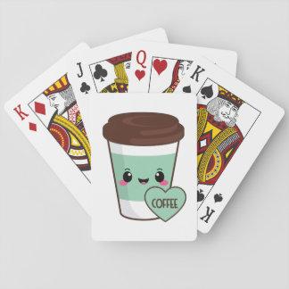 Coffee Emoji Lover Playing Cards