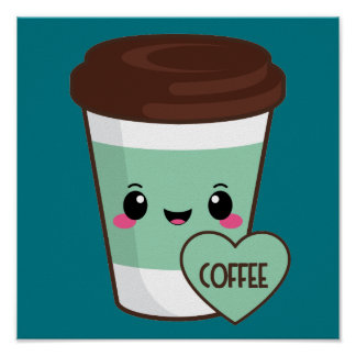 Coffee Emoji Lover Poster